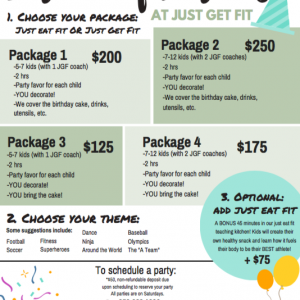 Just Get Fit Birthday Parties